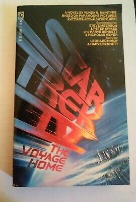 STAR TREK IV - THE VOYAGE HOME -  by VONDA N. MCINTYRE  , POCKETBOOKS PAPERBACK