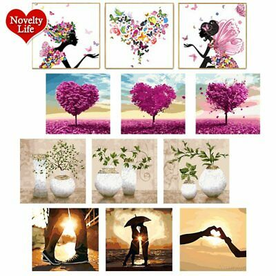 3 Set DIY Oil Painting Canvas Wall Art Painting Paint By Numbers Drawing Kit