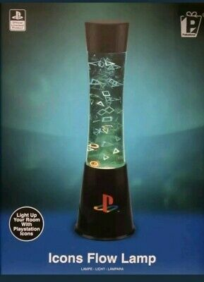 Official Licensed PlayStation Icons Flow Lava Lamp Light Night Light PS4