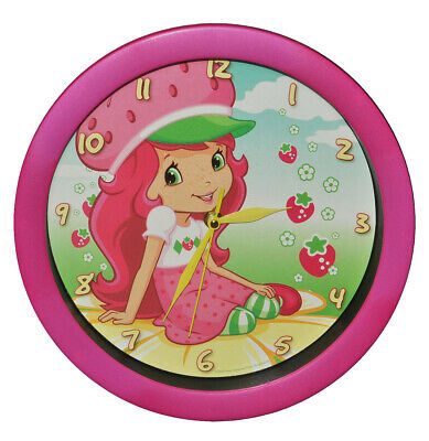"""Wall Clock - """" Emily Strawberry """" - 29 cm Large / Watch - for Childrens Room -"""