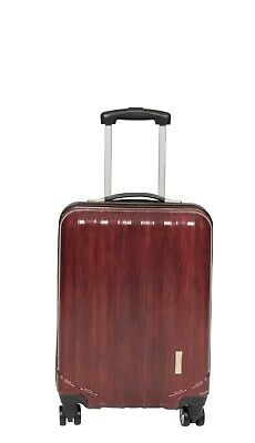 Cabin Size 4 Wheel Hard Shell Hand Luggage Lightweight On Board Suitcase Bag Red