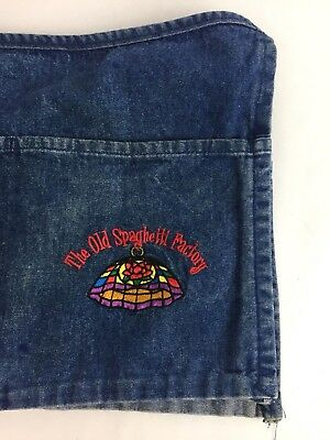 Restaurant Ad Old Spaghetti Factory Denim Waitress Apron 3 Pocket Embroidered