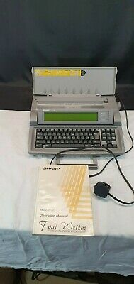 SHARP FW-500  Font Writer Word Processor with Manual