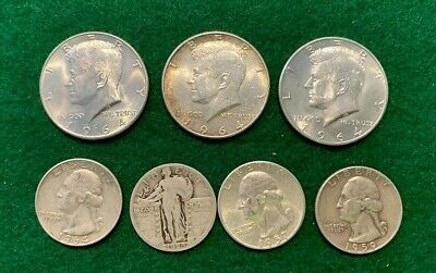 FREE SHIP/'N SWEET DEAL,$.50 FACE VALUE,ALL 90/% SILVER NOT JUNK GOOD STUFF