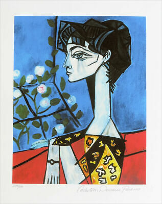 "unframed Pablo Picasso Signed//Hand-Numbered Ltd Ed /""Woman Dressing Hair/"" Print"