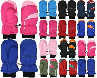 Kids Toddlers Winter Warm Snow Ski Mittens