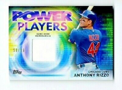 Anthony Rizzo 2014 Topps Update Power Players Relic #58/99 Chicago Cubs #PPR-AR