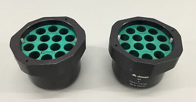 Beckman Coulter Bucket with Green 339180 Disc 14 Hole Adapter - Lot of 2