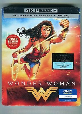 New Wonder Woman Steelbook Edition 4k Uhd Blu Ray Blu