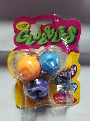 NIP Sealed CRAYOLA Globbles /'Sticky Not Messy!/' 3 Pack Assorted Colors