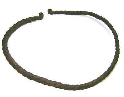 Ancient GENUINE Vikings Age women's bronze twisted bracelet.