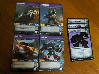 Transformers TCG - Wave 2 - Dead End, Breakdown, and 3x stunticon enigmas