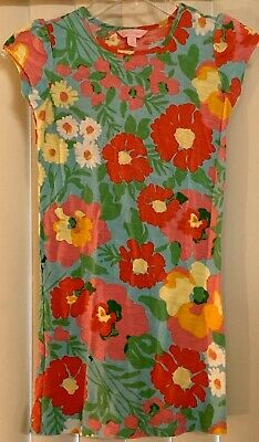 EUC Lilly Pulitzer Girls/Minnies Dress in Resort White Big Garden by the Sea, L