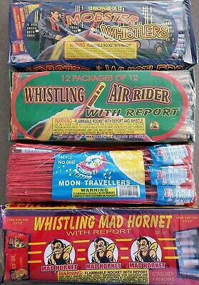 Fireworks labels collection Vintage 4 Mixed lot of Firecracker  Labels