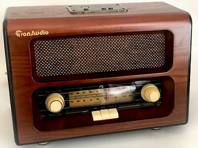 Retro Style Table Radio Wood Cabinet Old Style FM / Bluetooth / AUX / SD Card