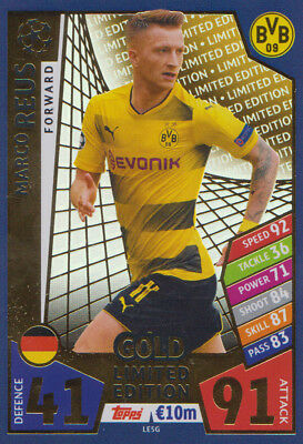 Match Attax Champions League 17/18 - LE5G Marco Reus Limited Edition Gold