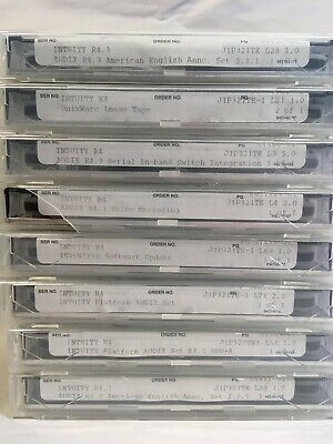Lot of 8 Lucent Technologies Intuity Phone System Software Tapes - All J1P321TE