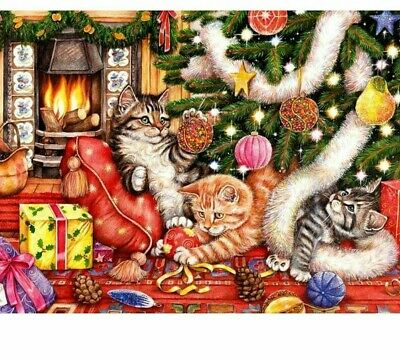 Diamond Stitch Christmas Paintings DIY Full Drill Square Embroidery Wall Art Kit