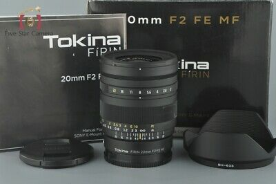 Excellent-!! Tokina FIRIN 20mm f/2 FE MF for Sony E Mount