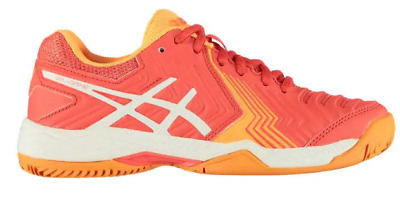 Womens Asics Gel Game 6 Clay E756Y 1993 Rouge Red Lace Up Tennis Shoes Trainers