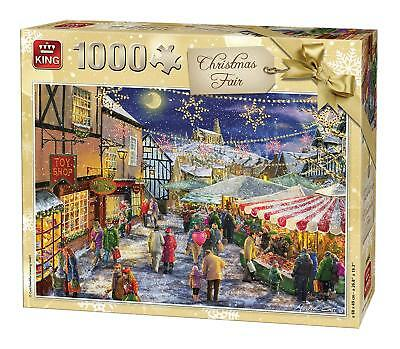1000 Piece Christmas Jigsaw Puzzle Christmas Fair Festive Village Winter 05682