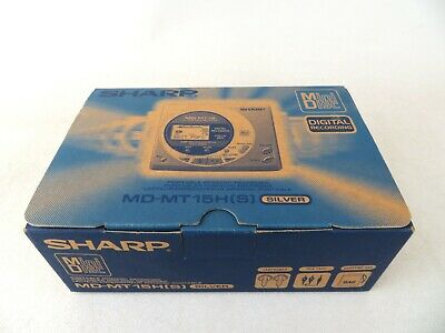 Sharp MD-MT15H Personal MiniDisc Player - boxed with extras