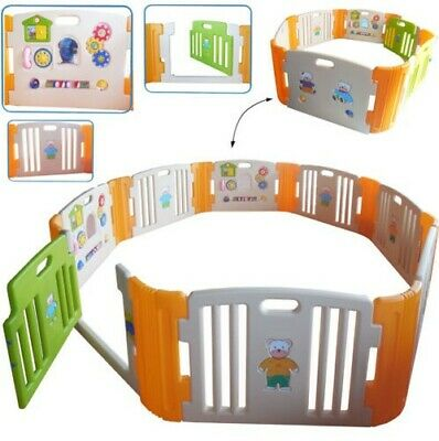 """XL - Playpen/Spielcenter/Playpen with Educational Games - """" with Spielwand"""