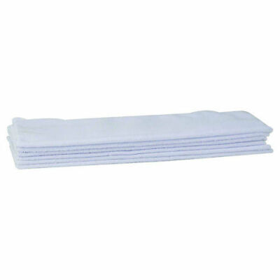NEW IN PACKAGE Winco BTM-16W, 16x16 Inch White Microfiber Bar Towel 6 Piece Pack