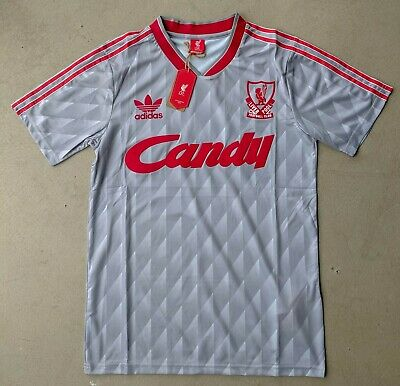 Liverpool Shirt 1989 1990 Retro Candy Away  SIZE Small S