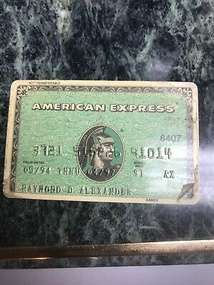 VINTAGE COLLECTIBLE AMERICAN EXPRESS CREDIT CARD (RAISED NUMBERS) (f)