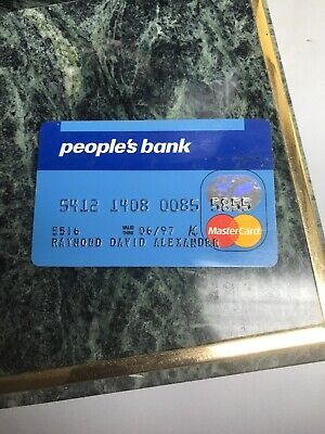 VINTAGE COLLECTIBLE PEOPLE'S BANK CARD RAISED NUMBERS, EXP. 1997 (f)