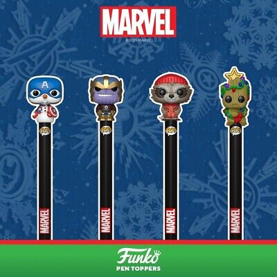 Funko Pop! Marvel Holiday Pens with Toppers (Choose Your Character)