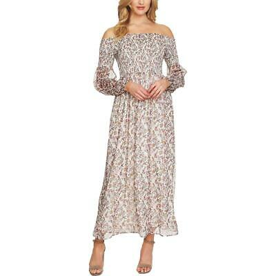 CeCe Womens Floral Off-The-Shoulder Casual Maxi Dress BHFO 1679