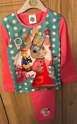 Girls Peter Rabbit Pyjamas Pjs Age 4-5 Years Gift Present Winter Long Sleeved