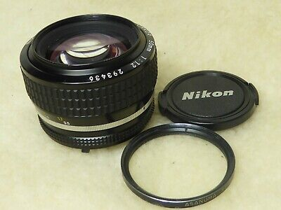 Nikon Nikkor 50mm f/1.2 Ai-S standard prime lens serviced and cleaned sept 2019