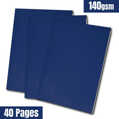 A4 140gsm Sketchbook - 40 Pages of White Cartridge Paper - Laminated Black Cover