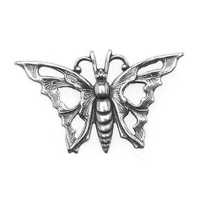 Antiqued Silver Plated Stamping Art Nouveau Butterfly/1