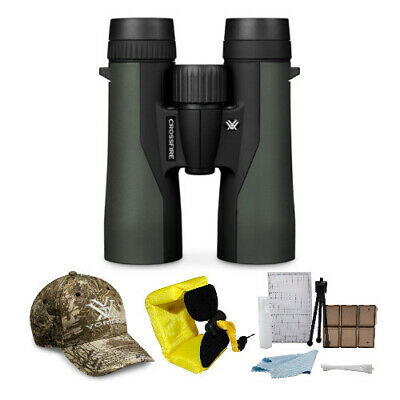 Vortex Optics Crossfire 8x42 Roof Prism Binocular Kit with Accessory Bundle