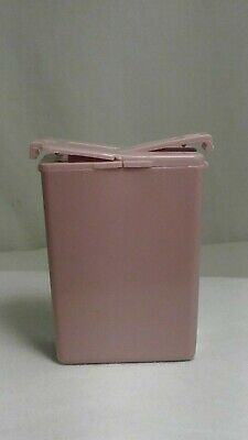 TUPPERWARE Personal  Mini Salt & Pepper Shakers Dusty Pink VINTAGE Purse Camping