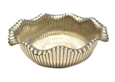 Whiting Sterling Silver Ribbed Scallop Rimmed Bowl #2447