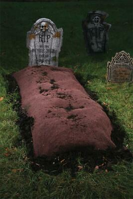 Life Size GRAVE MOUND Halloween Prop Yard HAUNTED HOUSE Decor Outdoor Tombstone