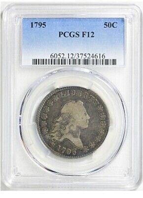 1795 Flowing Hair Half Dollar Pcgs F 12