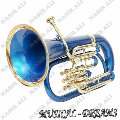 EUPHONIUM Bb PITCH BLUE COLORED FOR SALE WITH FREE HARD