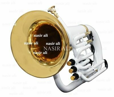 NEW BEST BUSY DEMAND EUPHONIUM Bb PITCH WHITE COLOR WITH FREE