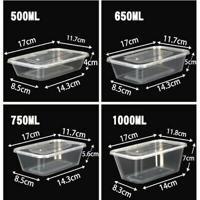 Lot Transparent Food Container Storage Lid Disposable Box Packaging Bakery Set