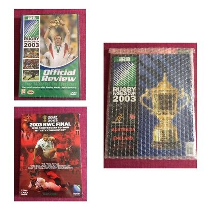 Rugby World Cup Final Programme & DVD England v Australia 2003 22/11/03 NEW MINT