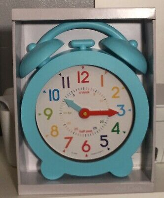 Acctim Large Wall Clock Colourful Dial Learn To Tell The Time Children's