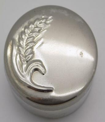 Vintage Solid Silver Italian Made Oval Pill / Snuff Box, Hallmarked, Usable