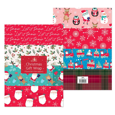 Xmas Large Gift Wrap Flat Sheets Christmas Wrapping Paper Roll Present Wrap