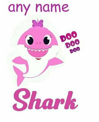 :::::::::::::::::Baby Shark::::::::::personalized:::::::t-Shirt Iron On Transfer